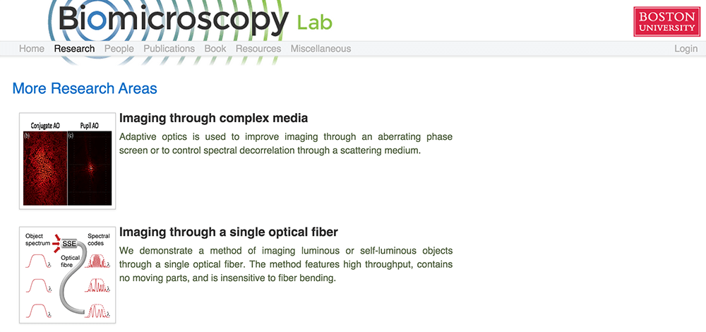 Biomicroscopy Website